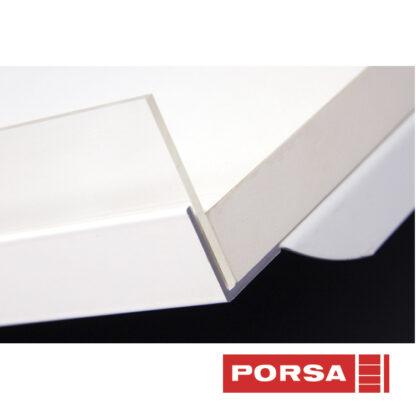 Porsa Klar plexiforkant til skråhylde