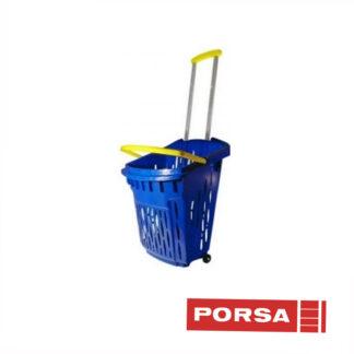 Porsa Indkøbskurv med 2 hjul