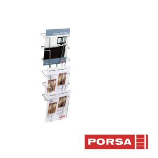 Porsa Brochureholder A4 med 6 rum