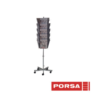 Porsa Brochurestander A4 med 3x5 rum
