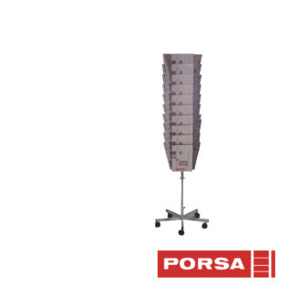 Porsa Brochurestander A4 med 3x10 rum