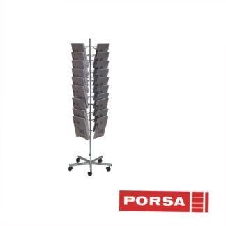 Porsa Brochurestander A4 med 4x10 rum