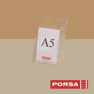 Porsa Brochureholder A5 med 4 rum