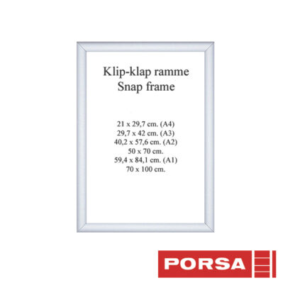 Porsa Klip-klap ramme A4