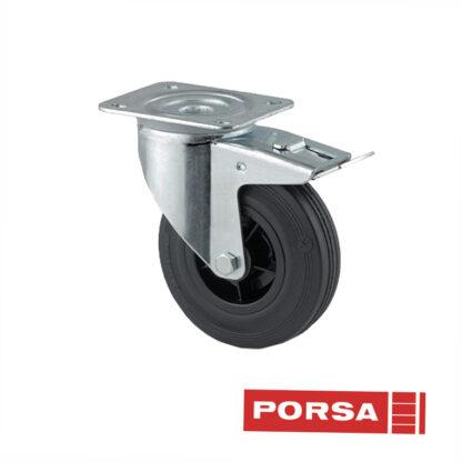 Porsa Gummihjul Ø125 mm med bremse