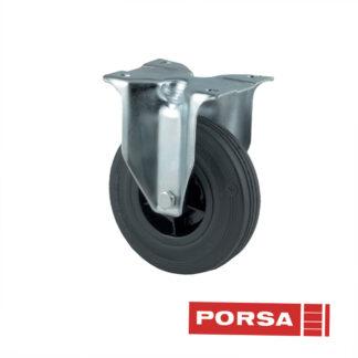 Porsa Gummihjul Ø125 mm med fast gaffel