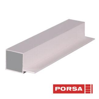Porsa Rør 25x25 mm med 1 flig