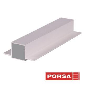 Porsa Rør 25x25 mm med 2 flige lige