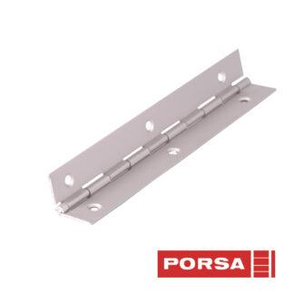 Porsa Pianohængsel 18x18 mm
