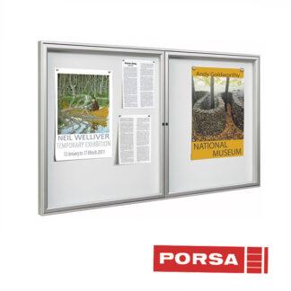 Porsa Infoskab udendørs Tradition 2 låger dybde 3 cm