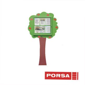 Porsa Infoskab udendørs Træ til væg dybde 3 cm