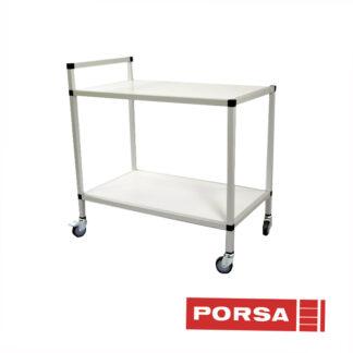 Porsa Transportbord med Ø 75 mm hjul