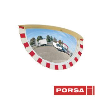 Porsa Spejl med kant 3-vejs hvid/rød