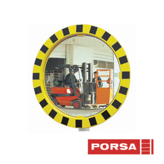 Porsa Trafikspejl med kant gul/sort