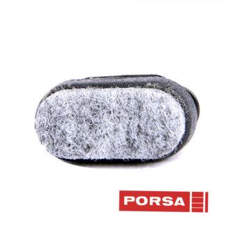 Porsa Dupsko oval filt med fladt hoved