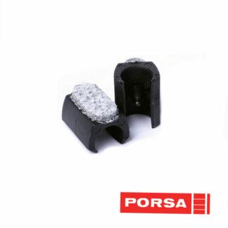 Porsa Glidesko med filt og tap kraftig model